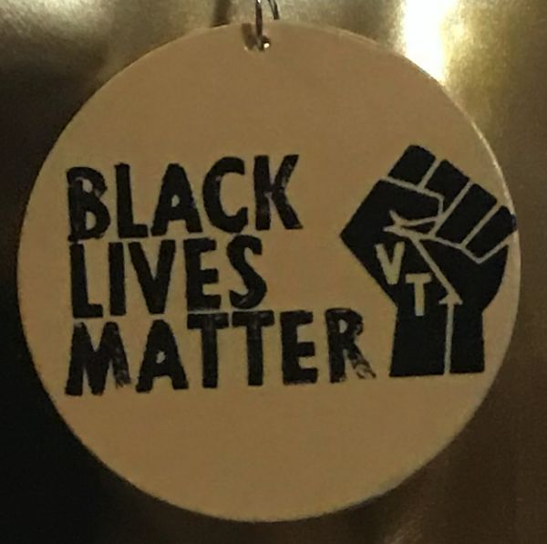 Ohrring Black Lives Matter - Gelb