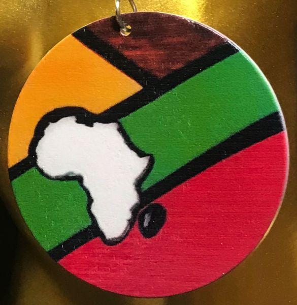 Ohrring Afrika, rund, bunt