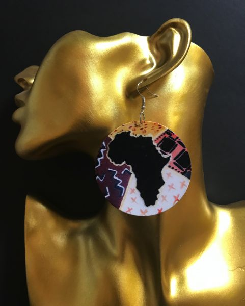 Ohrring rundes Afrika