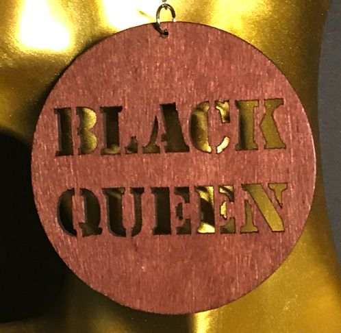 Ohrring Black Queen