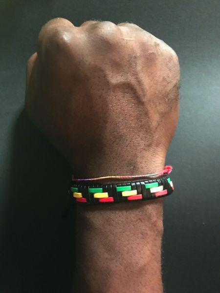 Rasta Längsstreifen Armband