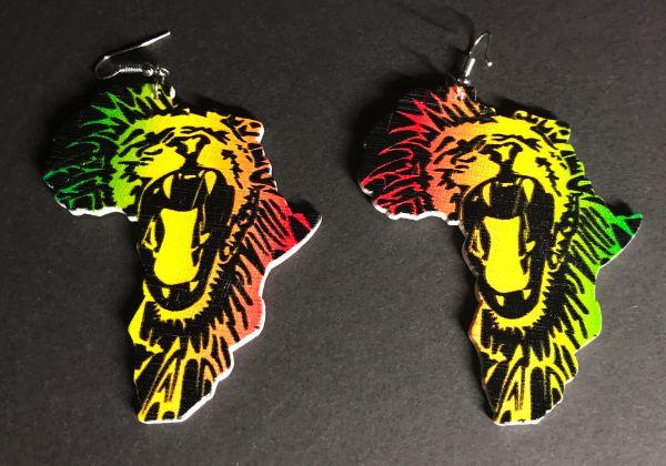 Ohrring brüllender Löwe