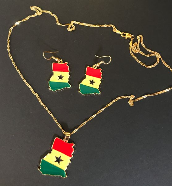 Ghana Kette und Ohrringe